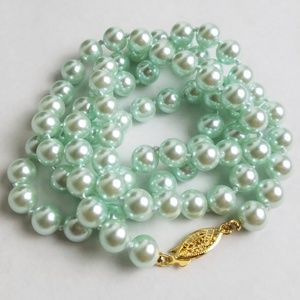Vintage Hand Knotted Faux Pearl Necklace